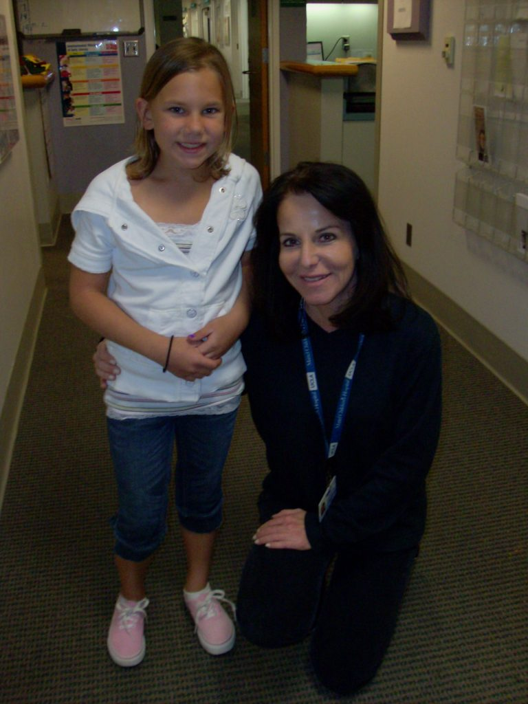 Jenna at her recent visit at UCLA with Dr. Patty Kerrigan